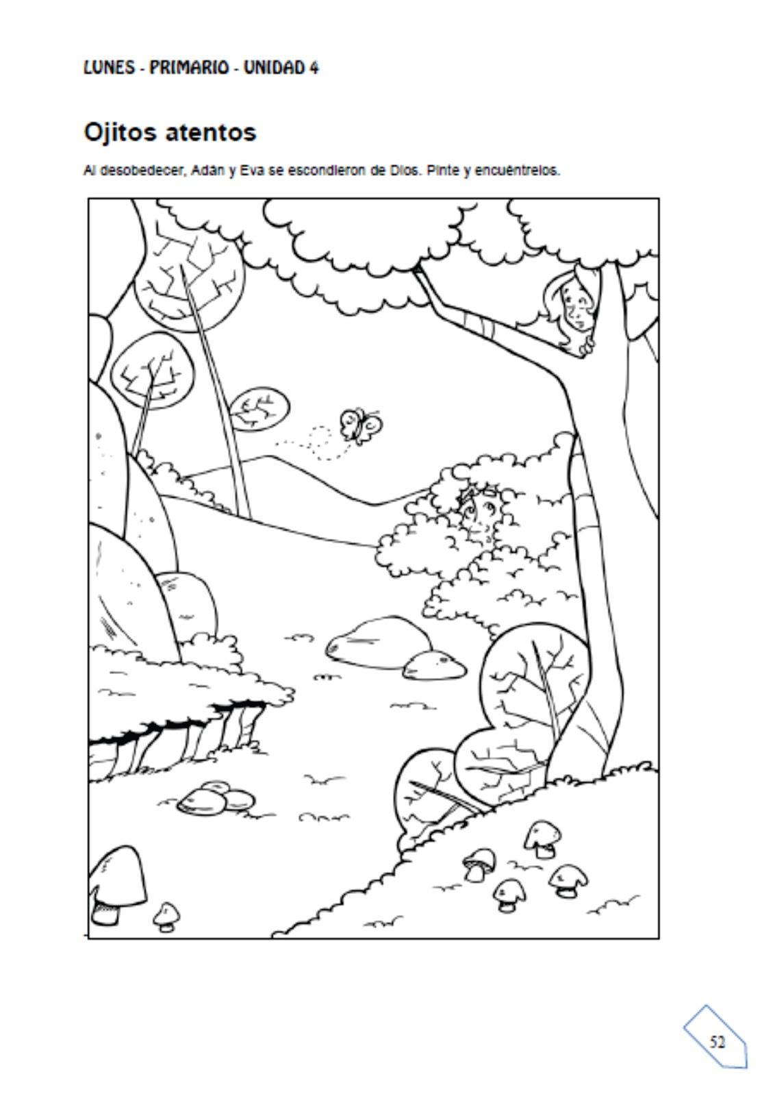Ebi paraguay historia la desobediencia de ad n y eva for Adan y eva en el jardin del eden para colorear
