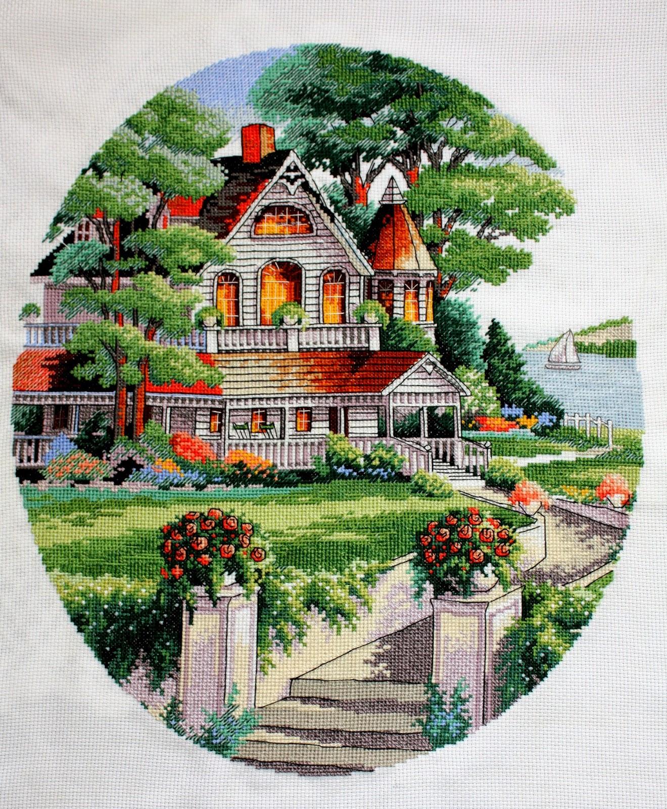 Вышивка дома от dimensions