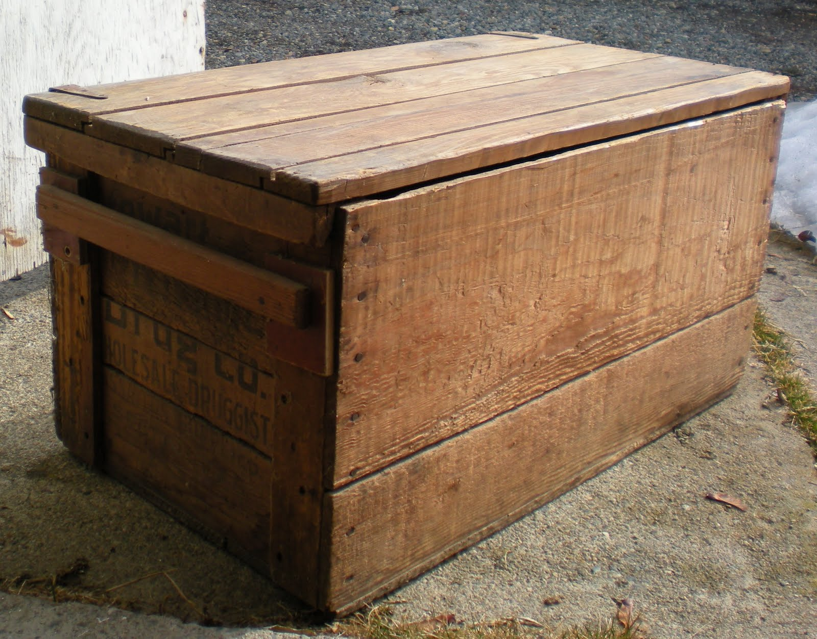 the gallery for old wood crate