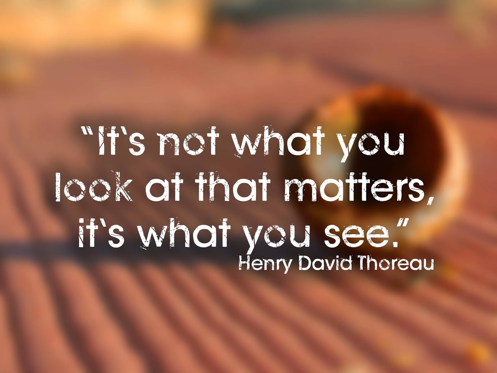 its not what you look at that matters but what you see essay You always have a choice of how you are going to respond to what the world offers you do not let something dictate the way you react to things you need to look within yourself and realize that.