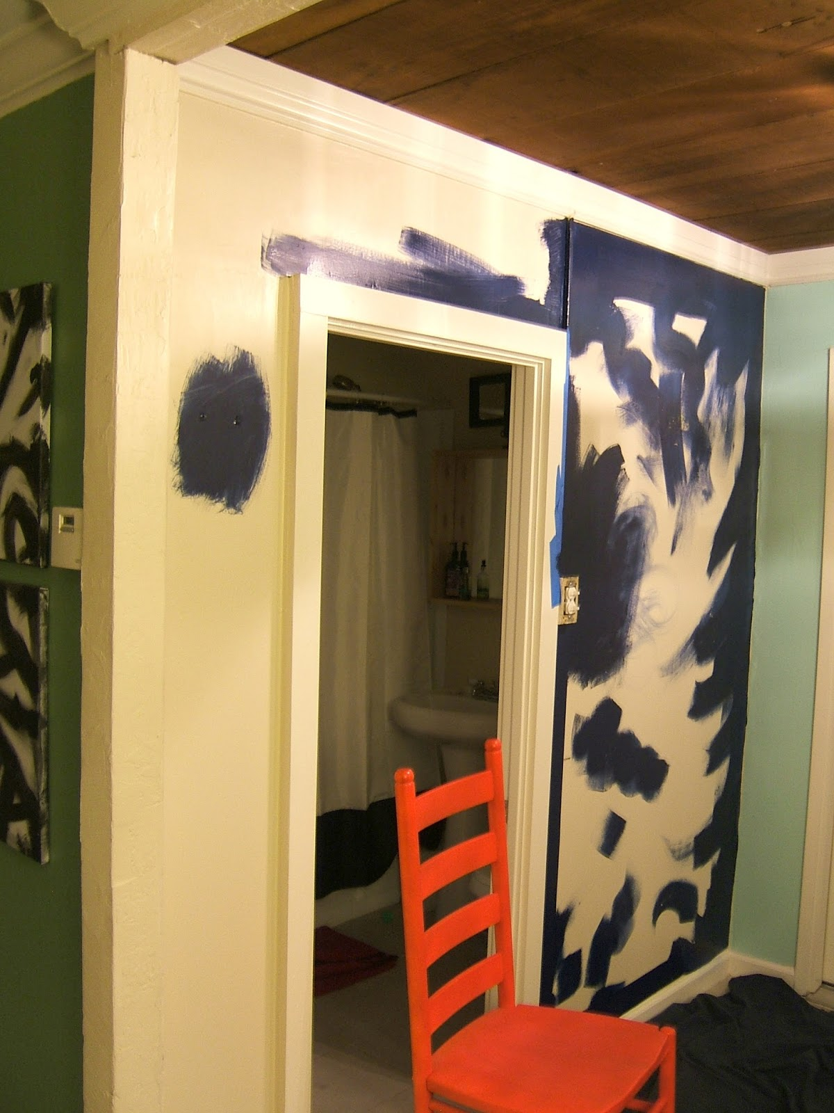 Nine Red: Entryway Command Center: Part 1 - Painting
