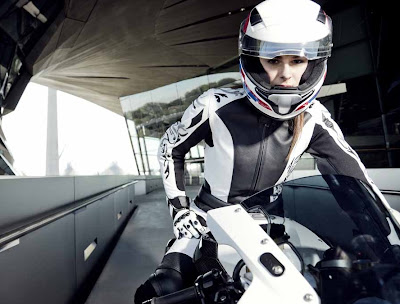 Anna Featured in BMW Motorrad Days Fashion Shoot