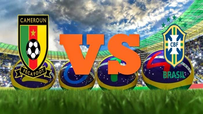 Prediksi Skor FIFA World Cup Terjitu Kamerun vs Brazil jadwal 24 Juni 2014