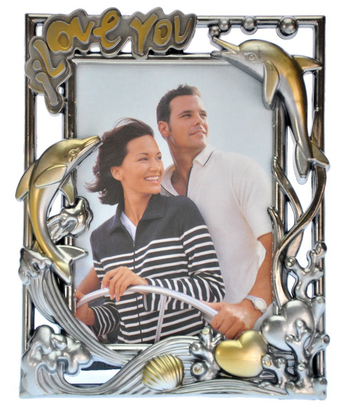 Frame Foto Plastik Love You Silver Gold