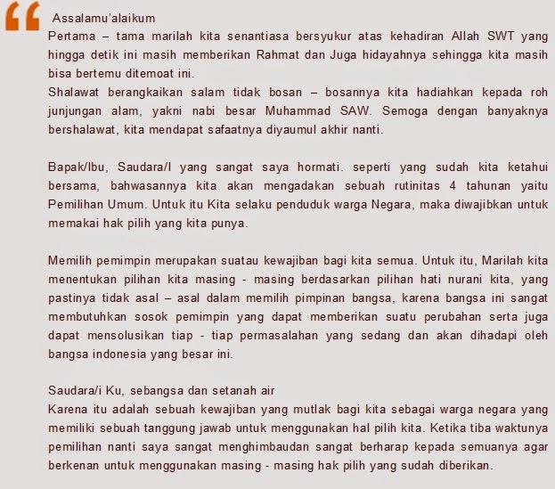 Contoh Pidato Tentang Pemilu Terbaru 2019 Kumpulan Contoh Surat