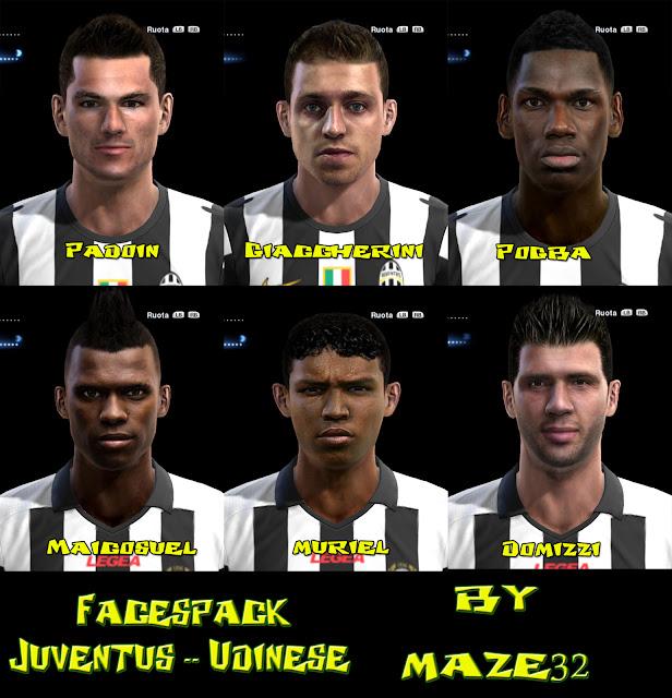 Juventus / Udinese Facepack - PES 2013