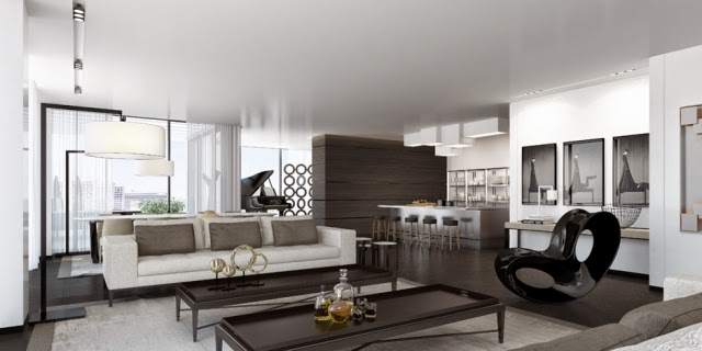 Luxury modern living room interior design ideas in white for Living area interior design