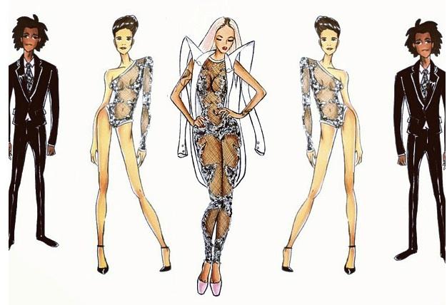 fashion illustrations lace leotard mens illustration jerron couture