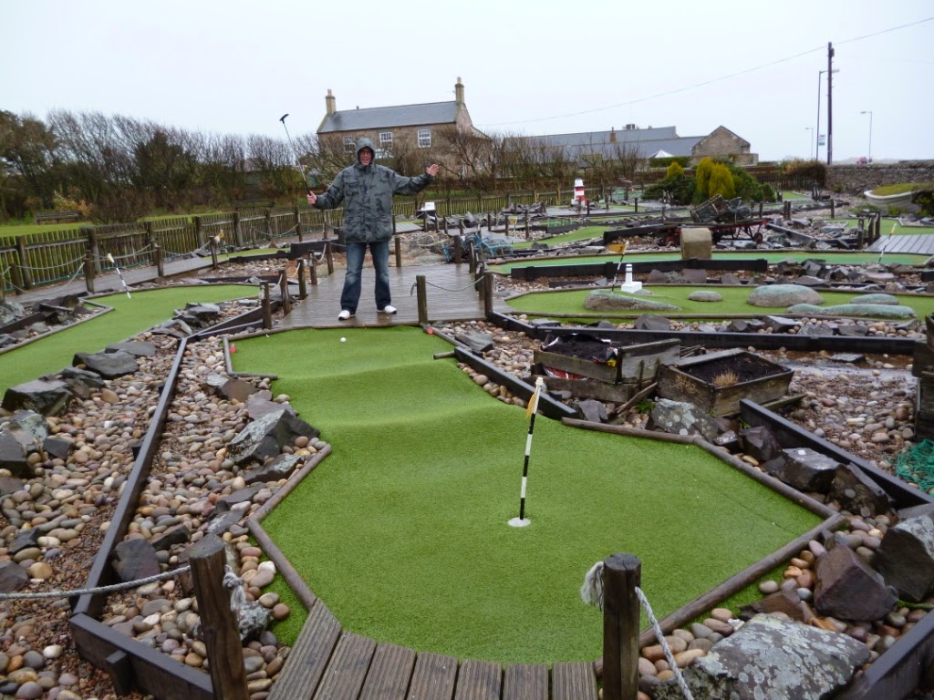 Mini Golf in Seahouses, Northumberland