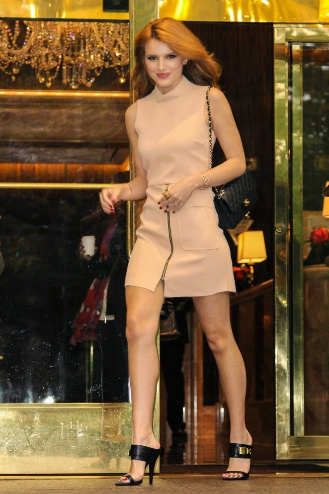 Bella Thorne shows off toned legs out and about in New York