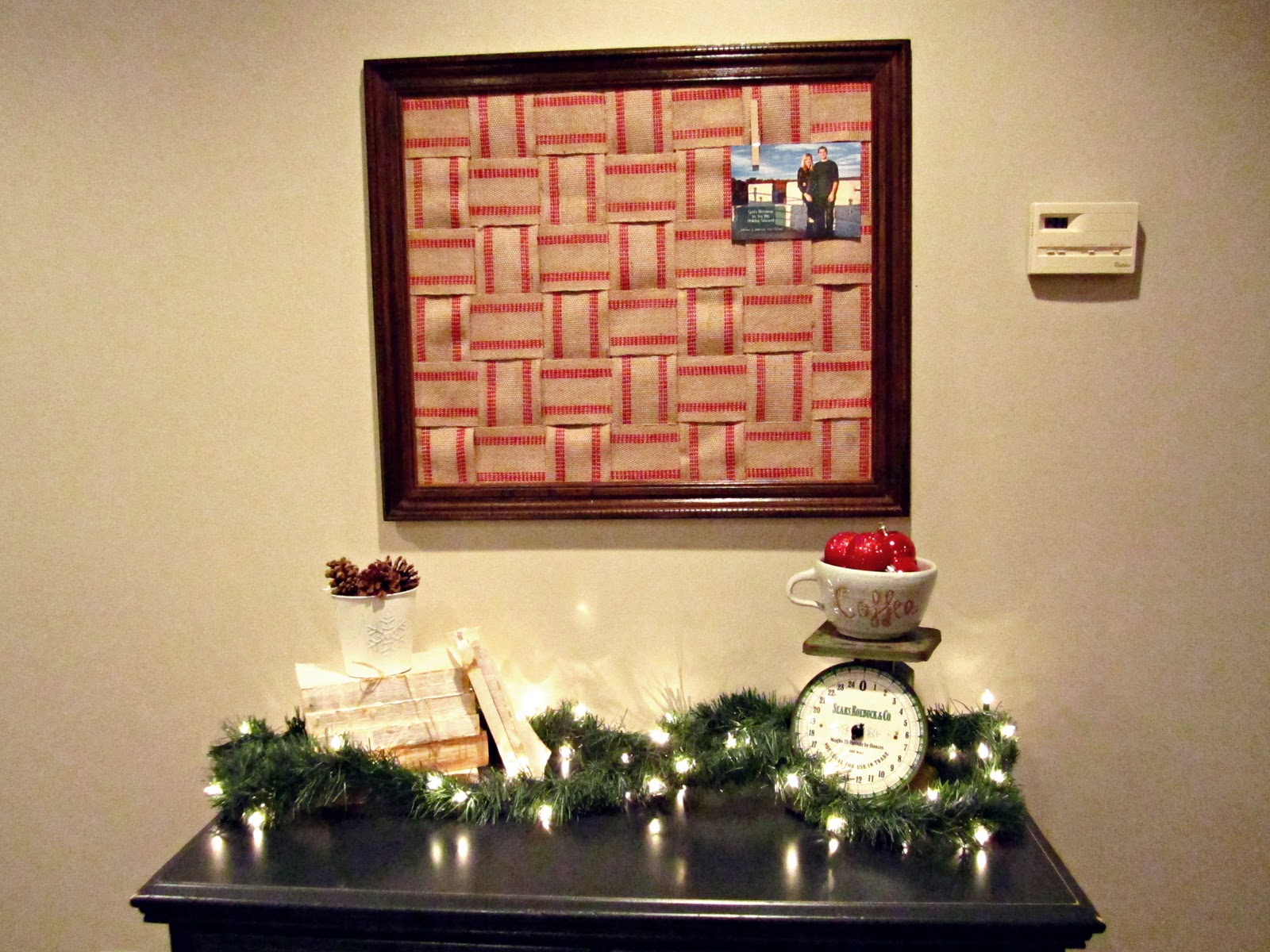 Behind the red barn door christmas card holder for Door xmas card holders