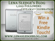 Lena's Kindle Touch 1,000 Followers Giveaway!