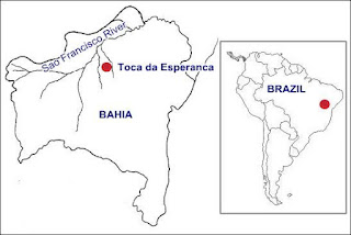 map of Toca da Esperanca site