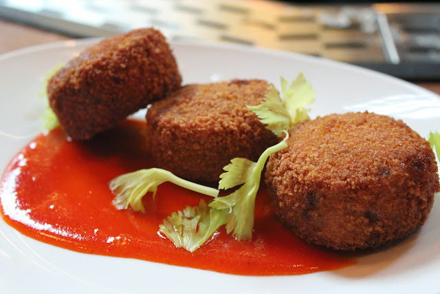 Oxtail croquettes at Boston Chops, Boston, Mass.