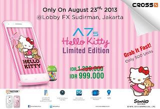 Spesifikasi dan Harga Hp Cross A7S Hello Kitty Terbaru 2013