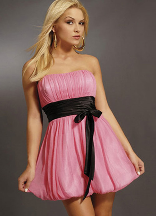 hot pink prom dresses short. Sexy pink of Short Prom Dress