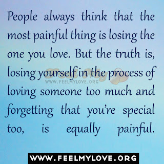 People think that the most painful thing is losing the one you love