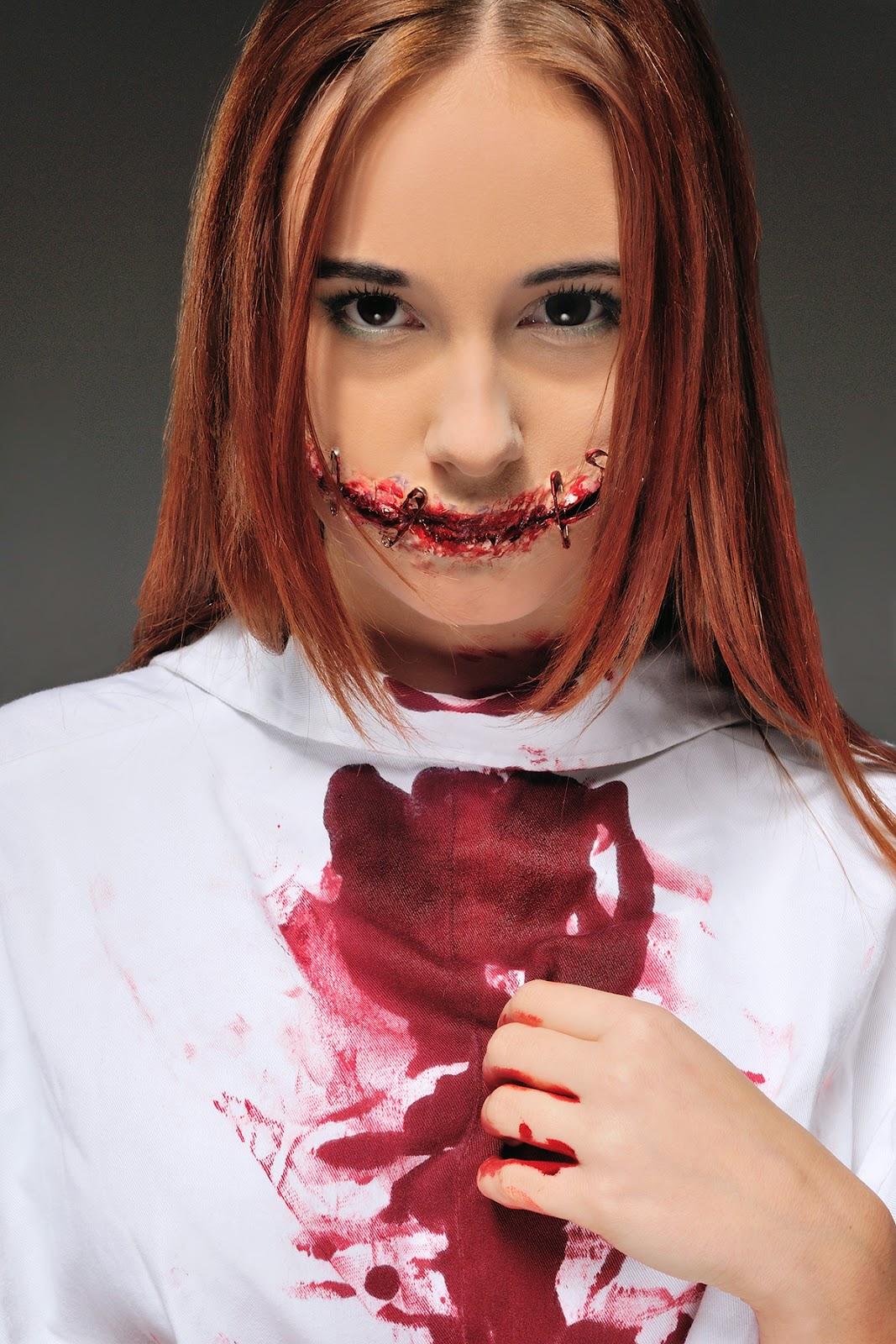 [152.] Charakteryzacja z krwawym uśmiechem.