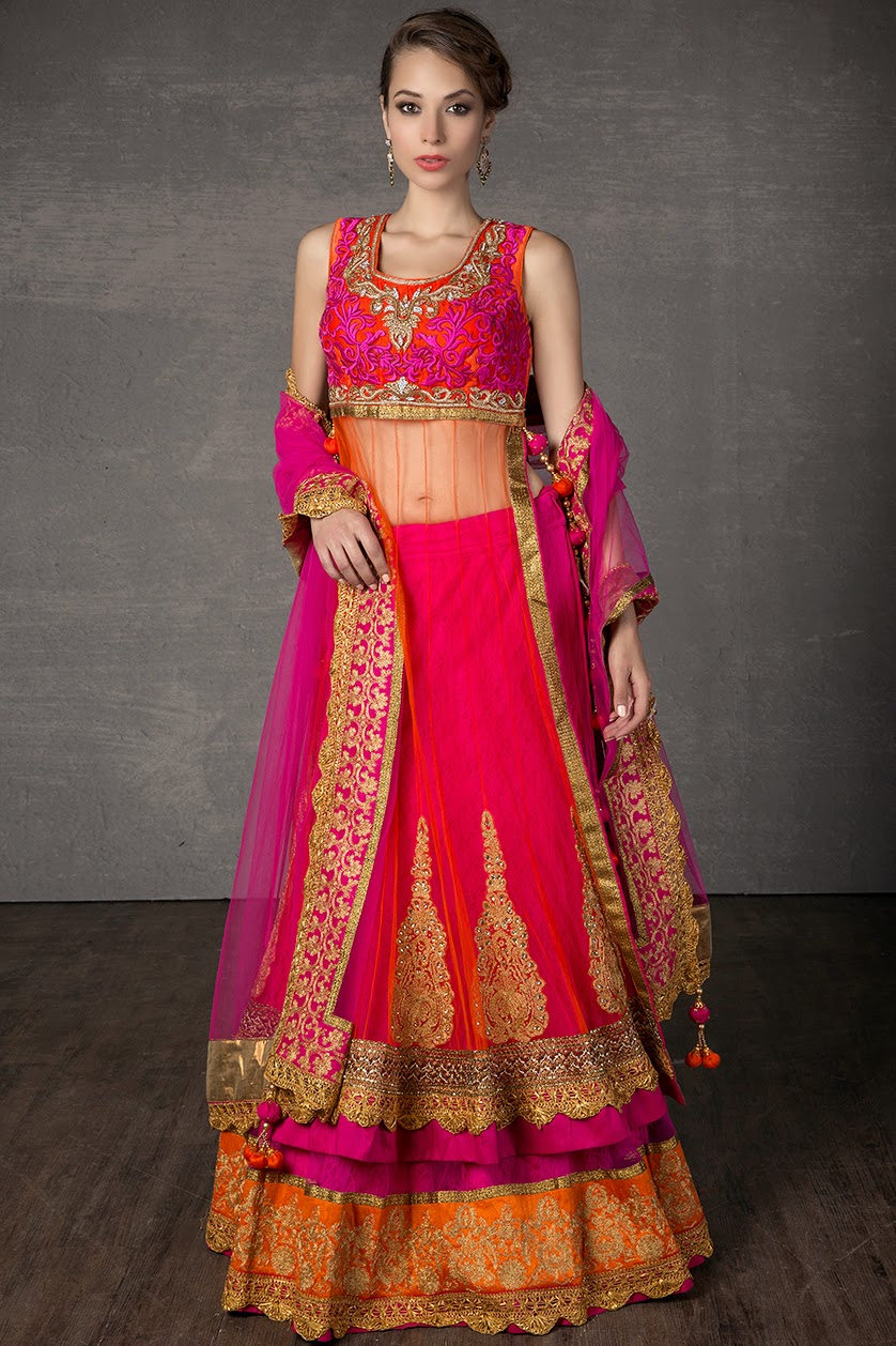 Beautiful Indian Party Wear Lehenga and Anarkali Pictures 2014 | All ...