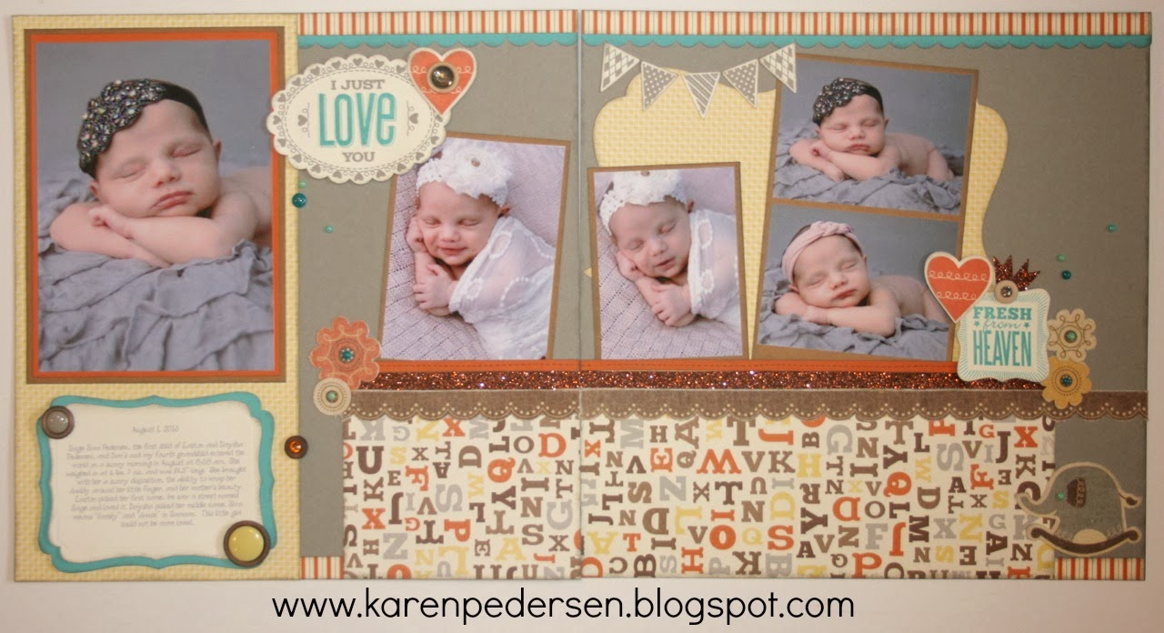 February 2014 Play Group Scrappin' Class Layouts (Babycakes)