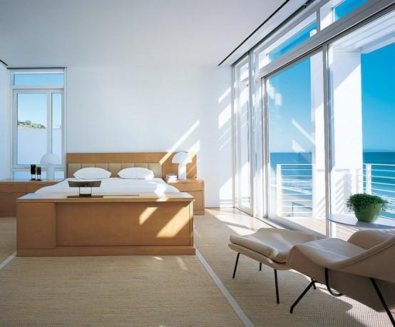 Home decor design modern beach house with white exterior for Beach house designs exterior