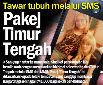 Tawar Khidmat Seks Melalui SMS MMS