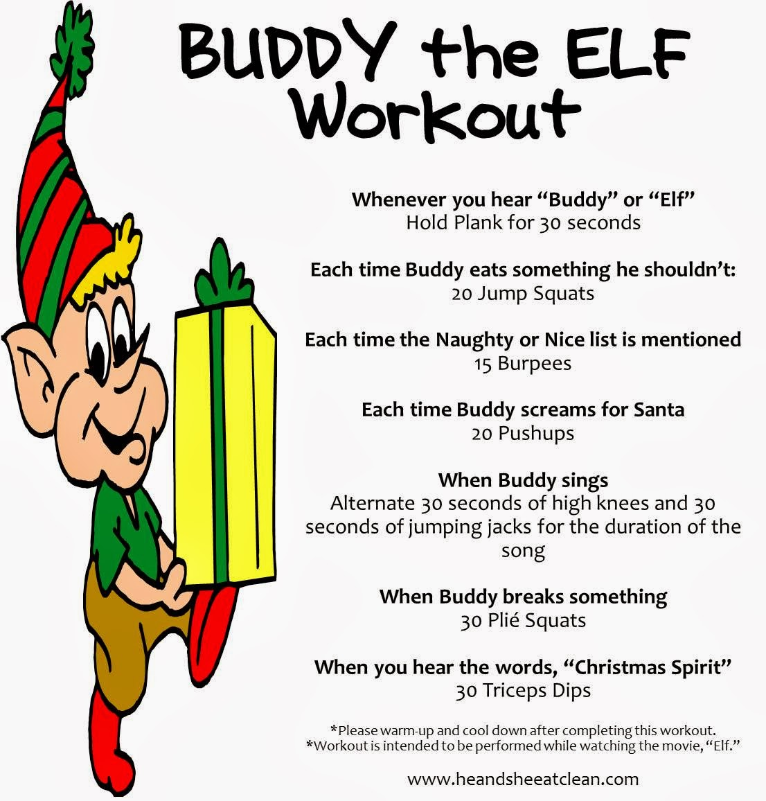 Workout Games: Buddy The Elf Workout