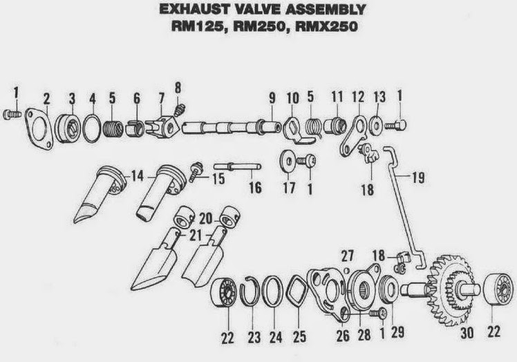 owner manual  2000 suzuki rm 125 power valve