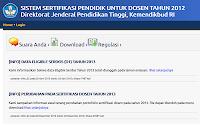 Sertifikasi Dosen 2013