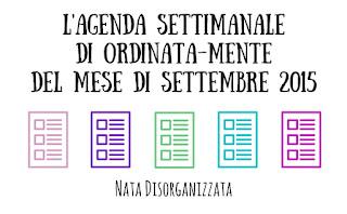 agenda settembre 2015 settimanale lavori domestici