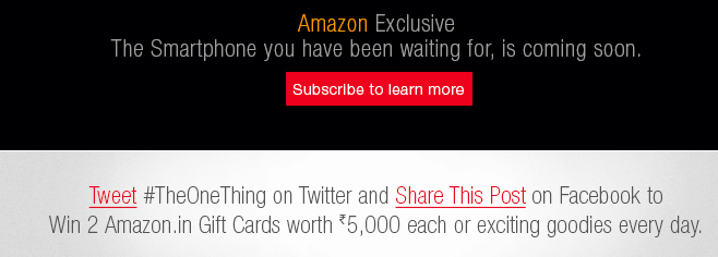 Amazon : Tweet or Share Amazon's post to win exciting prizes