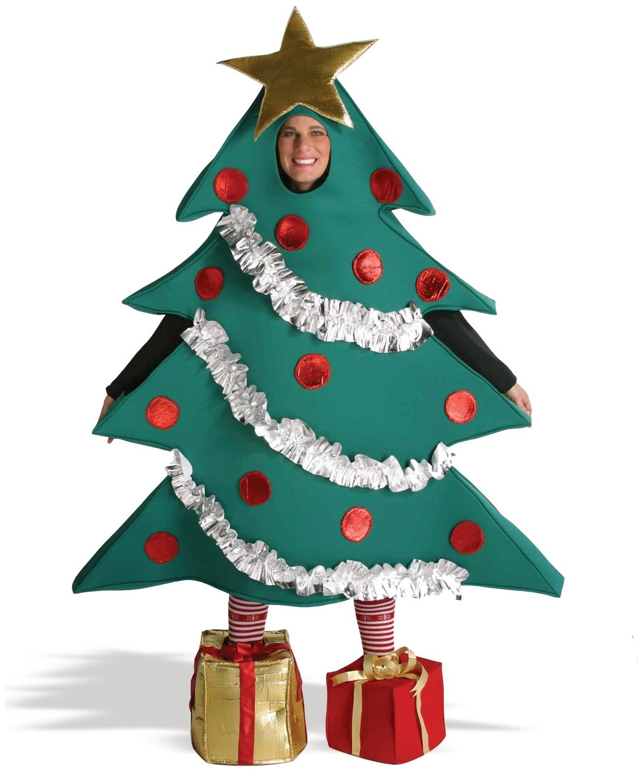 Christmas tree with she boxes adult costume