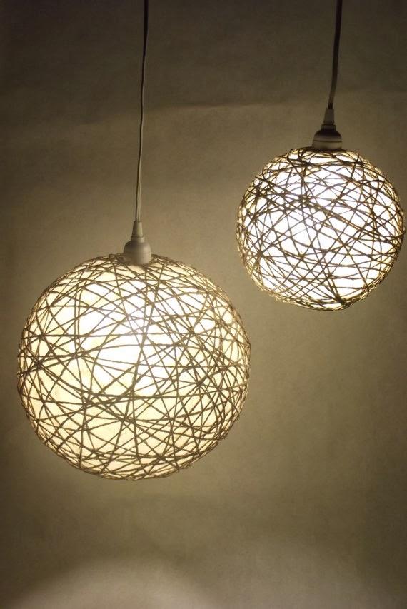 Neo arquitecturaymas originales l mparas de techo con cuerdas bolas de luz - Ideas para lamparas de techo ...