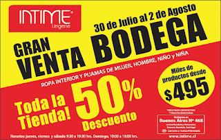 Venta de Bodega Intime: Ropa interior y pijamas de mujer, hombre y niños