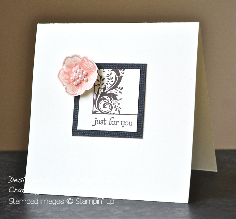 Quick card made with Postcard and Everything Eleanor from Stampin Up