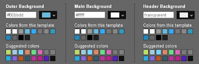 Blogger template designer set background color