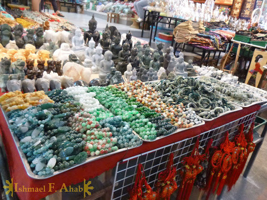 Myanmar jade for sale in Mae Sai, Thailand