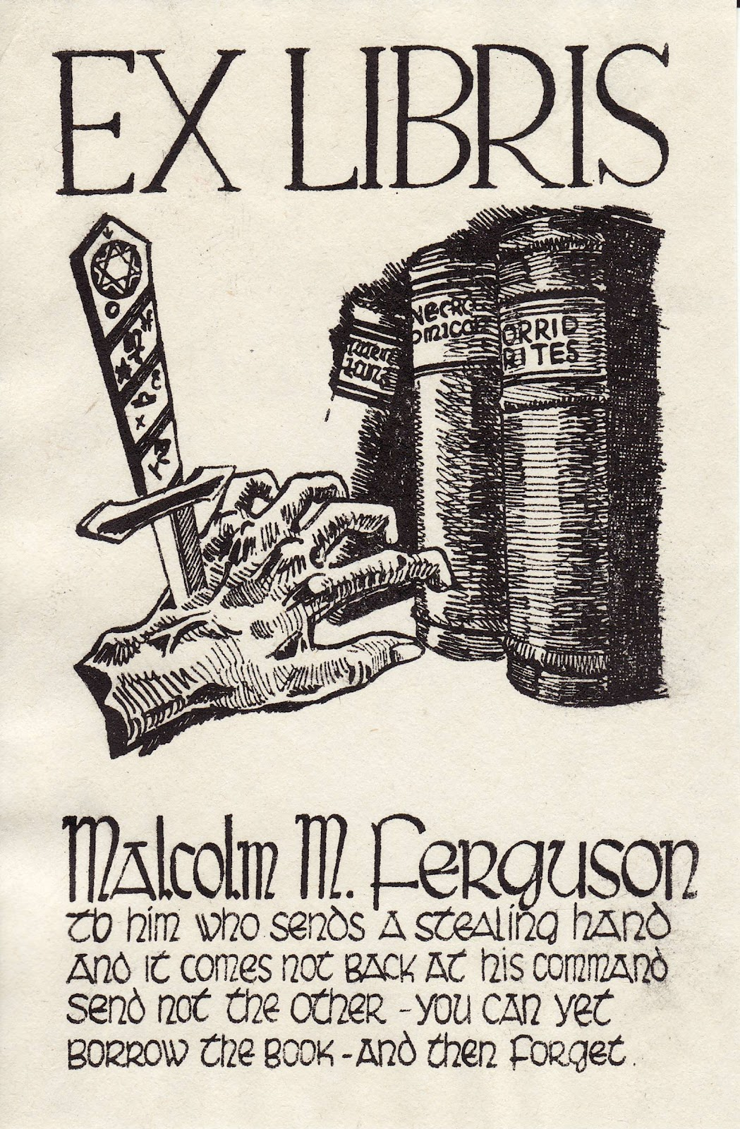 confessions of a bookplate junkie  threats and warnings on