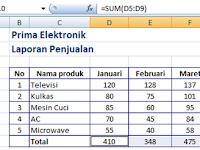 Cara Menjumlahkan data secara bersamaan dalam Excel