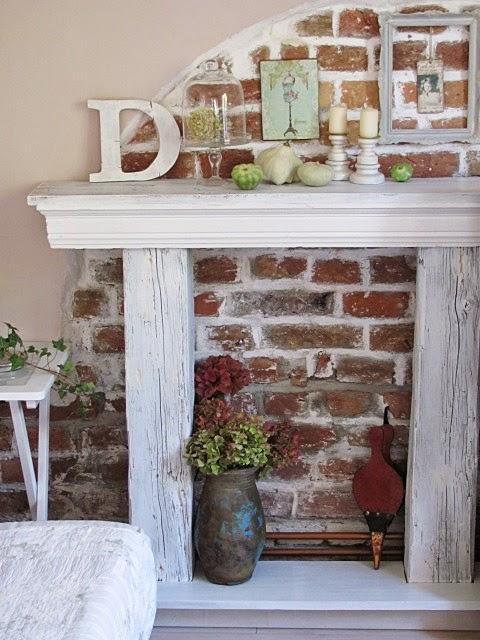 cute pinterest faux fireplace. Black Bedroom Furniture Sets. Home Design Ideas