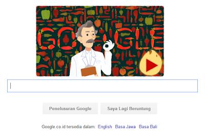 Google Doodle hari ini, merayakan ulang tahun Wilbur Scoville