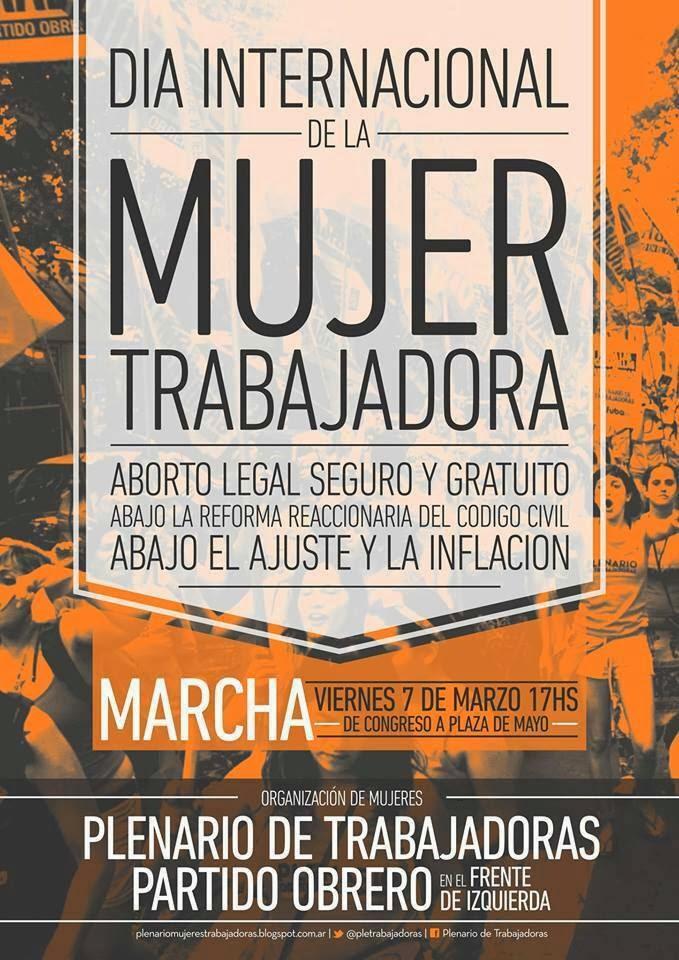 8 de Marzo Dia Internacional de la Mujer Trabajadora