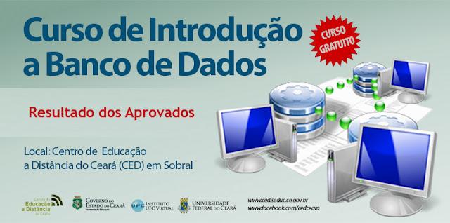 CED divulga lista de aprovados para o curso Banco de Dados
