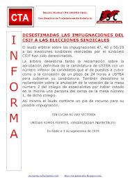DESESTIMADAS LAS IMPUGNACIONES DEL CSIF A LAS ELECCIONES SINDICALES