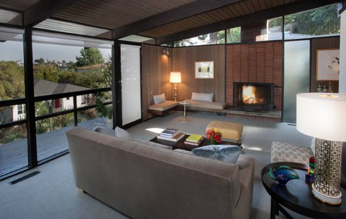 Modern homes los angeles top 2012 mid century modern for Mid century post and beam house plans