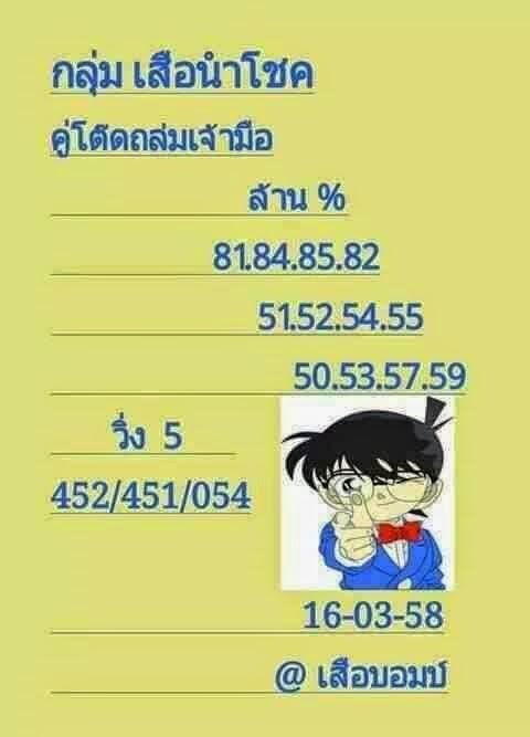 Lottery sure winning pairs 16 03 2015 thai lottery 007 lotto