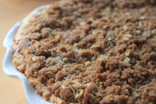 salted caramel apple crumble pie