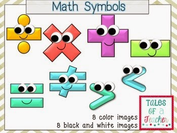 Math Symbols Clip Art Freebie by Kelli Olson