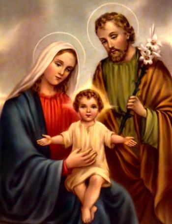 SALVE A SAGRADA FAMÍLIA : SÃO JOSÉ, SANTA MARIA E JESUS