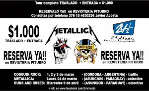 TOUR a COSQUIN ROCK, METALLICA, GUNS AND ROSES - 2014